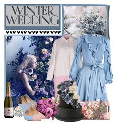 """""""Winter Wedding"""" by iheartkittys ❤ liked on Polyvore featuring Fendi, Zimmermann, Gucci, Giannico, Rimmel, Les Délices de Rose and Wilton"""