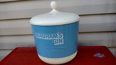 Vintage Seagram's Gin Ice Bucket by CollectorsAgency on Etsy