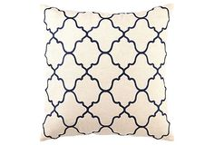 Moroccan 20x20 Pillow, Navy on OneKingsLane.com