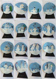 Vorschule Basteln Winter – Rebel Without Applause Christmas Art Projects, Winter Art Projects, Winter Kids, Christmas Crafts For Kids, Kindergarten Art, Preschool Crafts, Winter Activities, Art Activities, Snow Globe Crafts