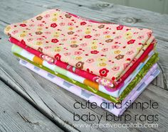 Cute and Simple Baby Burp Rags