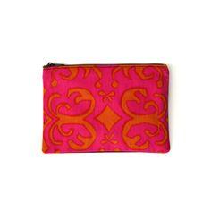 OUTLET / zipper pouch / boho coin purse / zero waste vegan / eco friendly recycled cotton