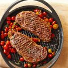 Try the Grilled Steaks with Cherry Tomatoes and Basil Recipe on ...