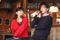 女優の永野芽郁と俳優の佐藤健が18日、東京・渋谷のNHKで行われた2018年度前期NHK連続テレビ小説『半分、青い。』の取材会に出席。お互いの印象や現場での様子などを語った。