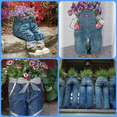 Jean Planter  http://askville.amazon.com/medium-stiffen-children's-clothes-make-outdoor-garden-planters/AnswerViewer.do?requestId=4060313