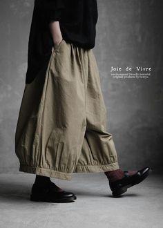 New1/25(tue)10:00。【送料無料】Joie de Vivreエジプトコットンリネンカルゼギャザーバルーンパンツ
