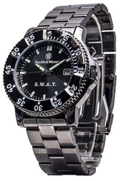 Smith Wesson SWAT Watch in Black Steel Case with Metal Band 024718145020 | eBay