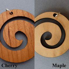 Spiral Swirl Necklace Pendant