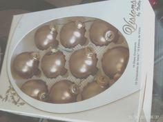 "10 VTG Satin Gold Christmas Ball 1.5"" Ornaments Visions by Holly IN ORGINIAL BOX"