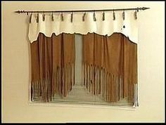 faux suede curtains for western rustic office  | followpics.co