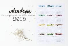 Azucarillos de Colores: Calendarios imprimibles del 2016!