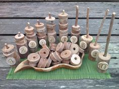Math numeracy set - counting - with natural materials - Fingadingadoo ≈≈