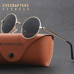 FASHION  NEW New Brand Designer Classic Polarized Round Sunglasses Men  Small Vintage Retro John 5af929c34f