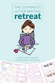 The {10 Minute} Letter-writing Retreat - Want to send out more #snailmail this year? This 100+ page guide is packed with prompts, inspiration, tutorials, and printable stationery. You're going to love this! :) by littlegirldesigns.com