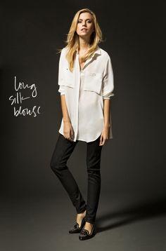 silk blouse // massimo dutti
