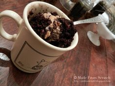 Mug cake, would actually recommend trying this out..