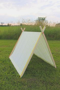 Otra tienda de campaña que me encanta a diy a-frame tent is my fave