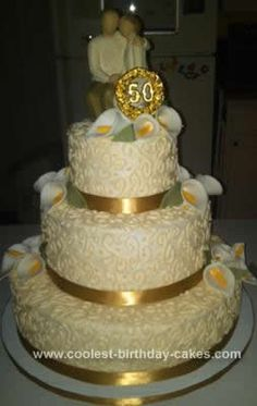 1000 images about 50 anniversary cakes on pinterest 50th wedding anniversary 50th wedding. Black Bedroom Furniture Sets. Home Design Ideas