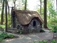 little stone cottage in the woods