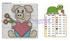 Bordados Ponto Cruz: Gráfico Porquinho amoroso em ponto cruz.  #pontocruz #pontodecruz #bordados #artesanato #graficos #graficospontocruz #crossstitch