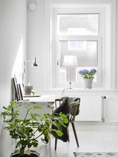 bright white creative space
