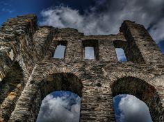 城, 中世, 崇高な, 巨大な, 課す, 観光名所, 騎士の城, 興味の場所, 塔, 胸壁