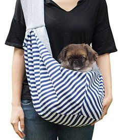 Timetuu BUY HandsFree dog Carrier Sling Soft Zipped POCKET Waterproof BAG  for Small Dogs Cat Rabbit 3380b2848