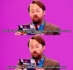 He knows how to blend in perfectly in real life. 26 Reasons David Mitchell Is The Internet's Spirit Animal You Funny, Funny People, Hilarious, Funny Things, Funny Shit, British Humor, British Comedy, David Mitchell, British Things