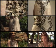 Amazing Game of Thrones wardrobe detail. Margaery Tyrell's wedding dress. The rose with thorns...