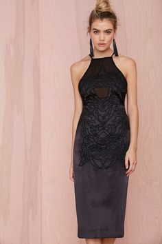 Nasty Gal Collection Hold Tight Embroidered Dress