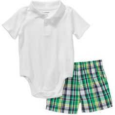Walmart Baby Boy Clothes Jcp  Okie Dokie® Plaid Shorts  Baby Boys Newborn24M  Newborn