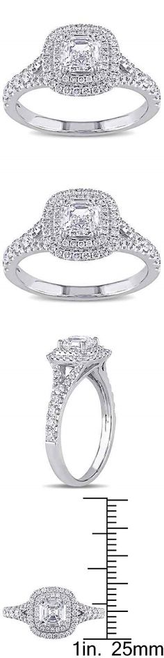 Other Engagement Rings 164308: Miadora Signature Collection 14K White Gold 1 1 2Ct Tdw Asscher-Cut Diamond -> BUY IT NOW ONLY: $4337.54 on eBay!