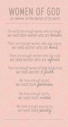 Embrace being a woman of God...