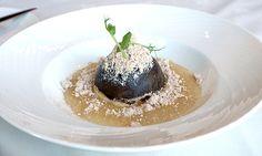 Chocolate dome, tapioca, mocha mousse, peanut butter crumb