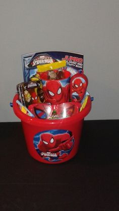 Spider man easter basket made by me easter pinterest negle Choice Image