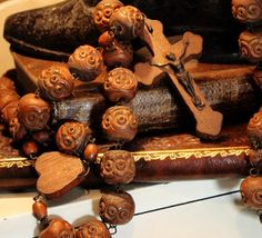 1920s Antique French Wood Nun Beads Rosary by ParisCoutureAntiques, $278.00 I have rarely seen a wooden rosary this beautiful where the beads are hardly worn.  The nun must not have had it very long.  Rare indeed...