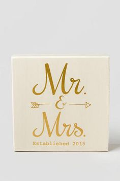 Mr. and Mrs. Box Sign
