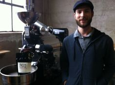 Talking java with Roseline Coffee's Marty Lopes.