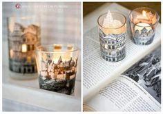 CANDLESTICK DIY, HAND MADE CANDLESTICK, INTERESTING CANDLESTICK, PAPER CANDLESTICK, Candlestick DIY | Vertigo - Dekoracje i dodatki ślubne, source: http://www.vertigo.com.pl/candlestick-diy/