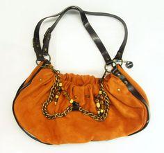 Orange colored purse.  Good for the fall.