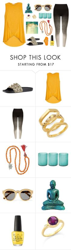 """Yogi"" by lovekaitlin ❤ liked on Polyvore featuring Gucci, River Island, Pepper & Mayne, Elizabeth and James, Jamie Young, STELLA McCARTNEY, OPI, Carelle, orange and yoga"