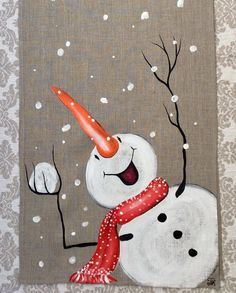 Snowman Hand-painted Table Runner Snowball Christmas : Just when was Valentines Morning Commemorated? Good Valentine's Day time Snowman Hand-painted Christmas Table Runner Snowball Christmas Canvas, Christmas Wood, Christmas Signs, Christmas Snowman, Christmas Projects, Christmas Decorations, Christmas Ornaments, Holiday Decorating, Etsy Christmas