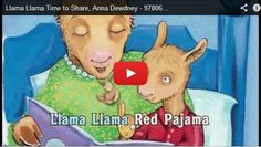 Pajama Day 'Llama Llama Red Pajama' sing along song, and online read aloud of the book by author & illustrator Anna Dewdney. Great song and read aloud for Mother's Day! Preschool Books, Book Activities, Teach Preschool, Preschool Winter, Llama Llama Red Pajama, Baby Llama, Pj Day, Red Pajamas, Sing Along Songs