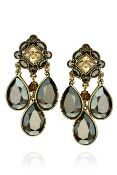 Rock And Roll, Bronze, Swarovski, Drop Earrings, Jewelry, Fashion, Crystals, Handmade, Moda
