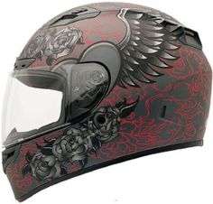 Full faced womens motorcycle helmet
