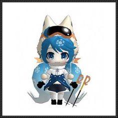 Vocaloid - Chibi Snow Miku Ver.3 Free Papercraft Download