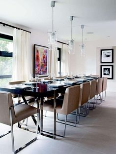 Sleek and modern dining area