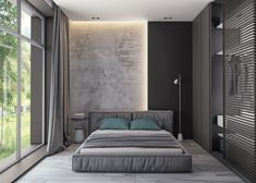 If you are going to a modern time and need some bedroom ideas, let you inspiring! See more clicking on the image. Modern Bedroom Design, Home Room Design, Master Bedroom Design, Home Decor Bedroom, Bedroom Wall, Home Interior Design, Interior Architecture, Bedroom Ideas, Plafond Design