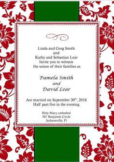 christmas wedding invitations - Google Search