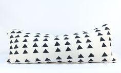 Chunky Triangles Mudcloth Pillow Large Lumbar